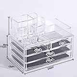 GreenSun(TM) Transparent Makeup Organizer Storage Box Acrylic Make Up Organizer Cosmetic Organizer Makeup Storage Drawers Organizer