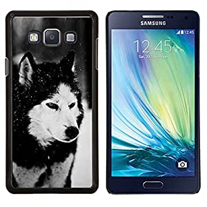 "Be-Star Único Patrón Plástico Duro Fundas Cover Cubre Hard Case Cover Para Samsung Galaxy A7 / SM-A700 ( Perro husky siberiano Alaskan Malamute Invierno Animal Pet"" )"