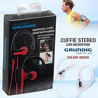 Grundig Auriculares estéreo de Auriculares + micrófono Deporte ...
