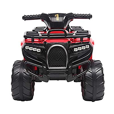 Kids Electric Ride On Car , Small Beach Bike Single Drive Battery 6V4.5AH 1 with Music Board Red (red): Toys & Games
