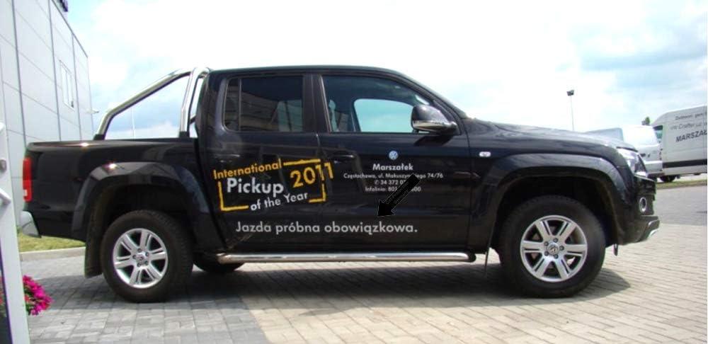 370002015 Listelli di Protezione Laterali Neri per Volkswagen VW Amarok Pickup Double Cab Cabina Doppia a Partire dallanno di Costruzione 09.2010 Spangenberg F20