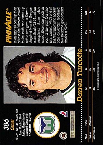 Amazon com: 1993-94 Pinnacle Darren Turcotte #386 Whalers