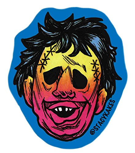 Horror Chainsaw guy Decal - For Cars, Laptops, and More! - Use Inside or Outside - Sicks To Any Flat Smooth ()