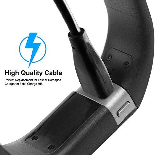 Reemplazo del cargador de carga USB cable de la cuerda de Fitbit Cargo HR Wireless Actividad Pulsera solamente (Fitbit Cargo HR) por Senhai-Negro: ...