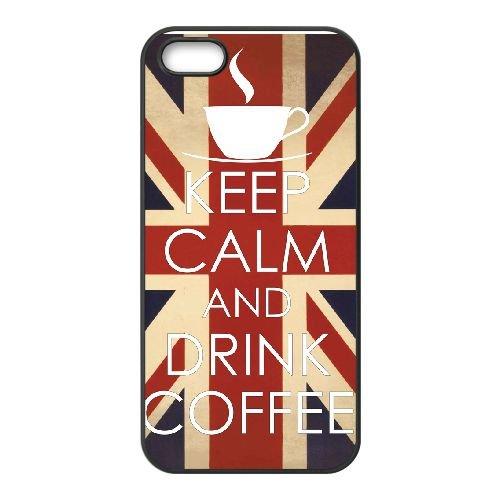 Keep Calm Drink Coffee 005 coque iPhone 5 5S cellulaire cas coque de téléphone cas téléphone cellulaire noir couvercle EOKXLLNCD25226