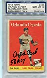 Orlando Cepeda Signed 58 Roy 1958 Rookie Topps Rc Card Graded 10 Autograph - PSA/DNA Certified - Baseball Slabbed Autographed Cards