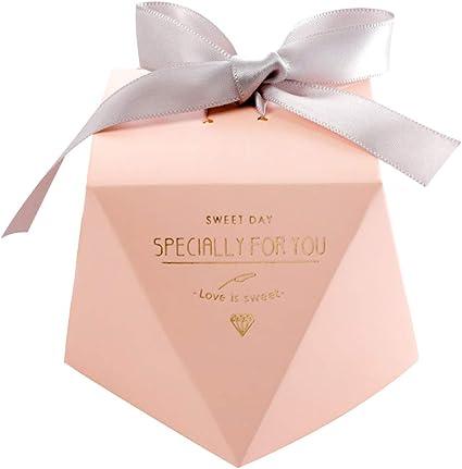 Gwolf Cajas de regalo de boda, 50 cajas de regalo pequeñas para regalos Cajas de golosinas