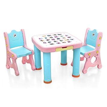 Juegos de mesas y sillas Juego de mesa y silla para niños Jardín de infantes Mesa ...