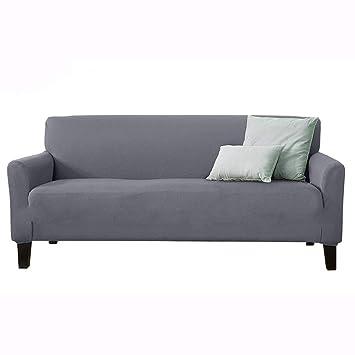IUME Funda de sofá elástica de piel antideslizante para tres ...