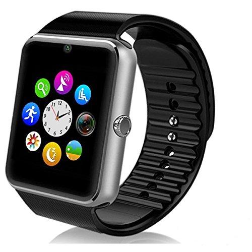 Smartwatch Android, DeYoun® Handy Uhr Bluetooth Smartwatch Uhr Fitness Armband mit Kamera SIM Karte Slot / NFC-Funktion für Samsung Galaxy S7 Edge S6 / S5 HTC LG Sony Huawei Android Telefon IPhone IOS [ Tlweise Fnktionen ]