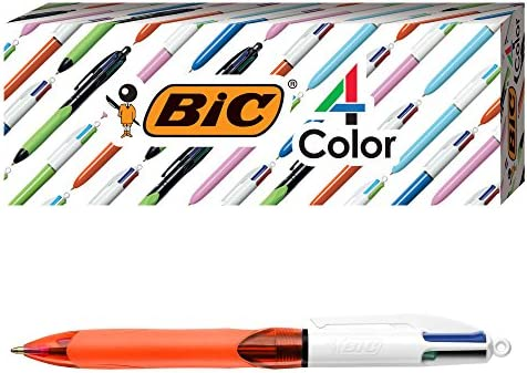 BIC 4 Color Ballpoint Assorted 3 Count