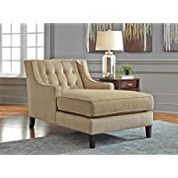 Ashley Lochian Chenille Chaise Lounge in Bisque