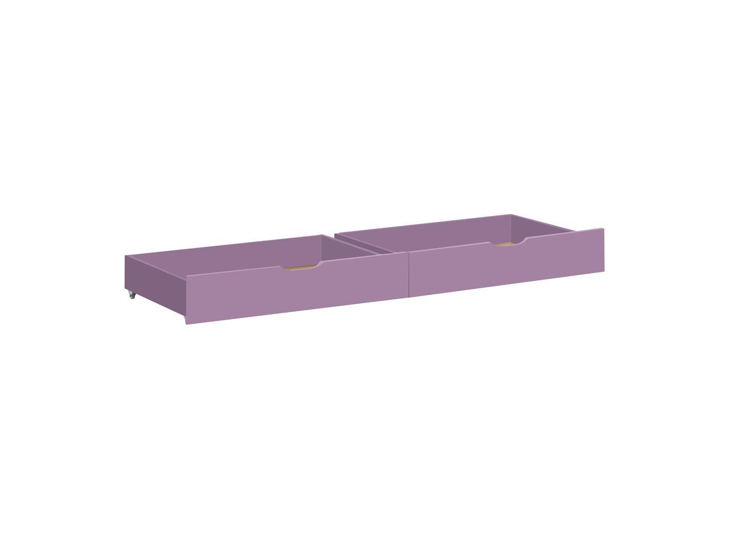 Hoppekids IDA 36-1006-73-07M Drawer Set on Wheels for Junior/Children's/Infant/Toddler Bed, Wood, Lavender, 70 x 160 cm, 2-Piece MARIE 36-1006-73-07M