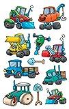 Avery Zweckform 53705 Kinder Sticker, Baumaschinen, 33 Aufkleber