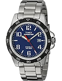 Unisex T499259J Expedition Rugged Silver-Tone Watch With Stainless Steel Bracelet