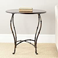 Safavieh American Homes Collection Saintes Classical Dark Cherry and Iron Round End Table