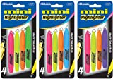 Bazic Mini Fluorescent Highlighter with Cap Clip 144 pcs sku# 311311MA
