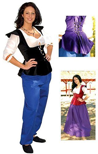 [Mememall Fashion Womens Renaissance Medieval Bodice Cotton Velveteen] (Kids Deluxe Beetlejuice Costumes)
