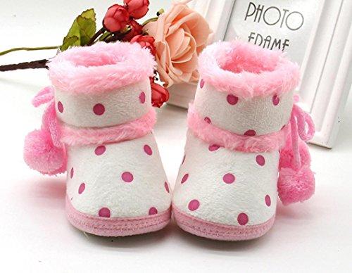 SYY 0-1 Jahre alt Baby Mädchen Jungen Weiche Booties Schneeschuhe Infant Kleinkind Neugeborenen Erwärmung Schuhe Rosa