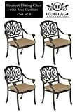 Cheap Heritage Outdoor Living Elisabeth Cast Aluminum Dining Chair – Set of 4 – Antique Bronze