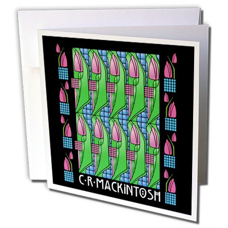 Charles Rennie Mackintosh Tulip Design - Greeting Cards, 6 x 6 inches, set of 12 (gc_219142_2) ()