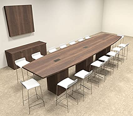 Amazoncom Boat Shape Counter Height Feet Conference Table - 16 foot conference room table