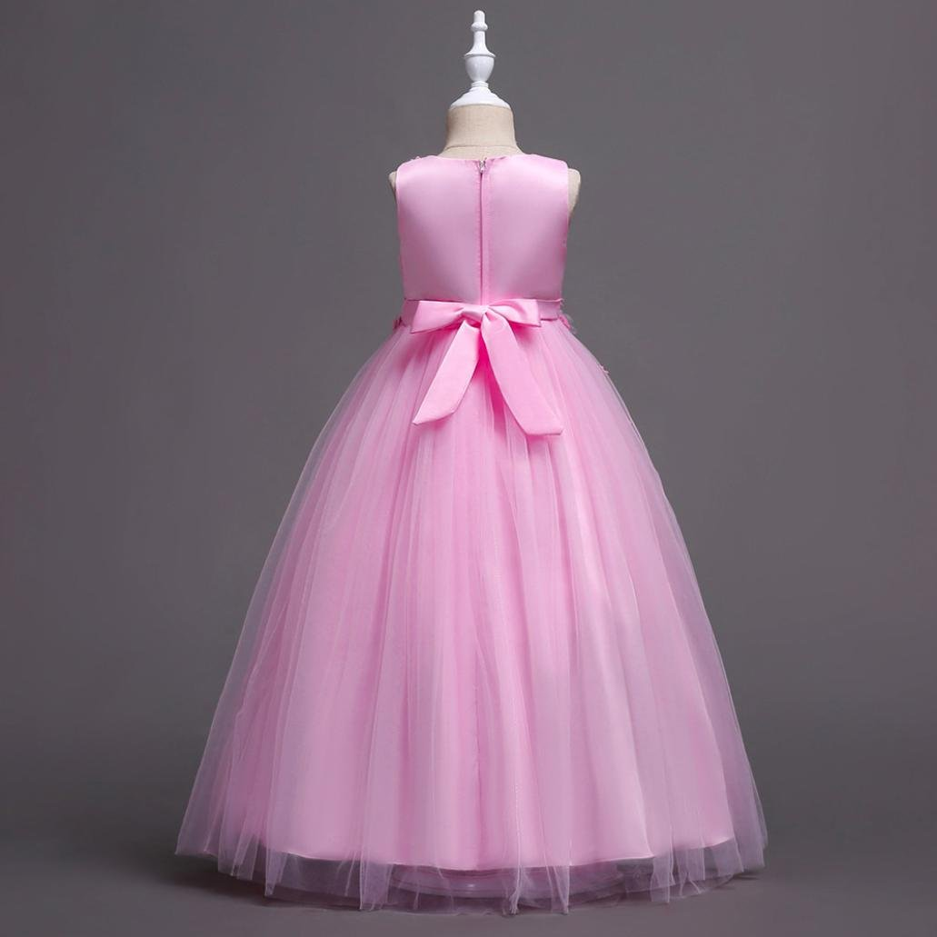 Jarsh Jarsh Rosado Flower - Vestido de boda para de dama de honor ...