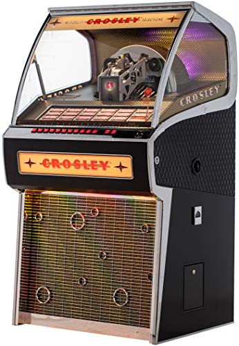 Crosley Rocket Full Size Vinyl Jukebox with Bluetooth - Holds 70 45-RPM Vinyl Records (Record Player Jukebox)