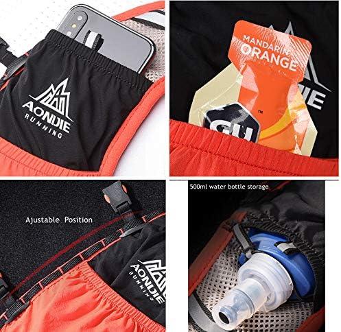 AONIJIE Lovtour Hydration Race Vest,2.5L Running Vest Lightweight Pack with 2 Soft Water Bottles Bladder for Marathoner Running Race Cycling Hiking Camping Biking
