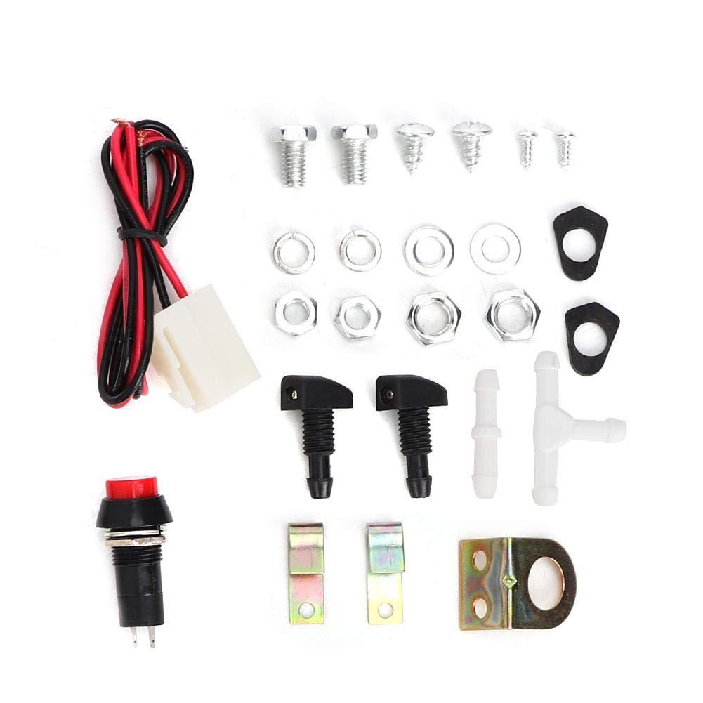 kit de lavadora universal Bomba de limpieza 12V 1.8L Dep/ósito del limpiaparabrisas Duokon Dep/ósito del limpiaparabrisas de