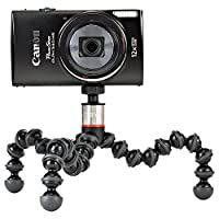 JOBY GorillaPod 325 Compact Tripod Stand for Small Point & Shoot Cameras. Supports up to 11.44oz (325g). Black/Charcoal