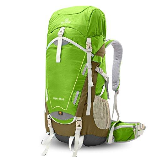 zaino trekking Pacchetto esterno professionale sacchetto di alpinismo spalla maschile 50L zaino Donna che cammina di viaggio ultra-leggero impermeabile Zaini da escursionismo