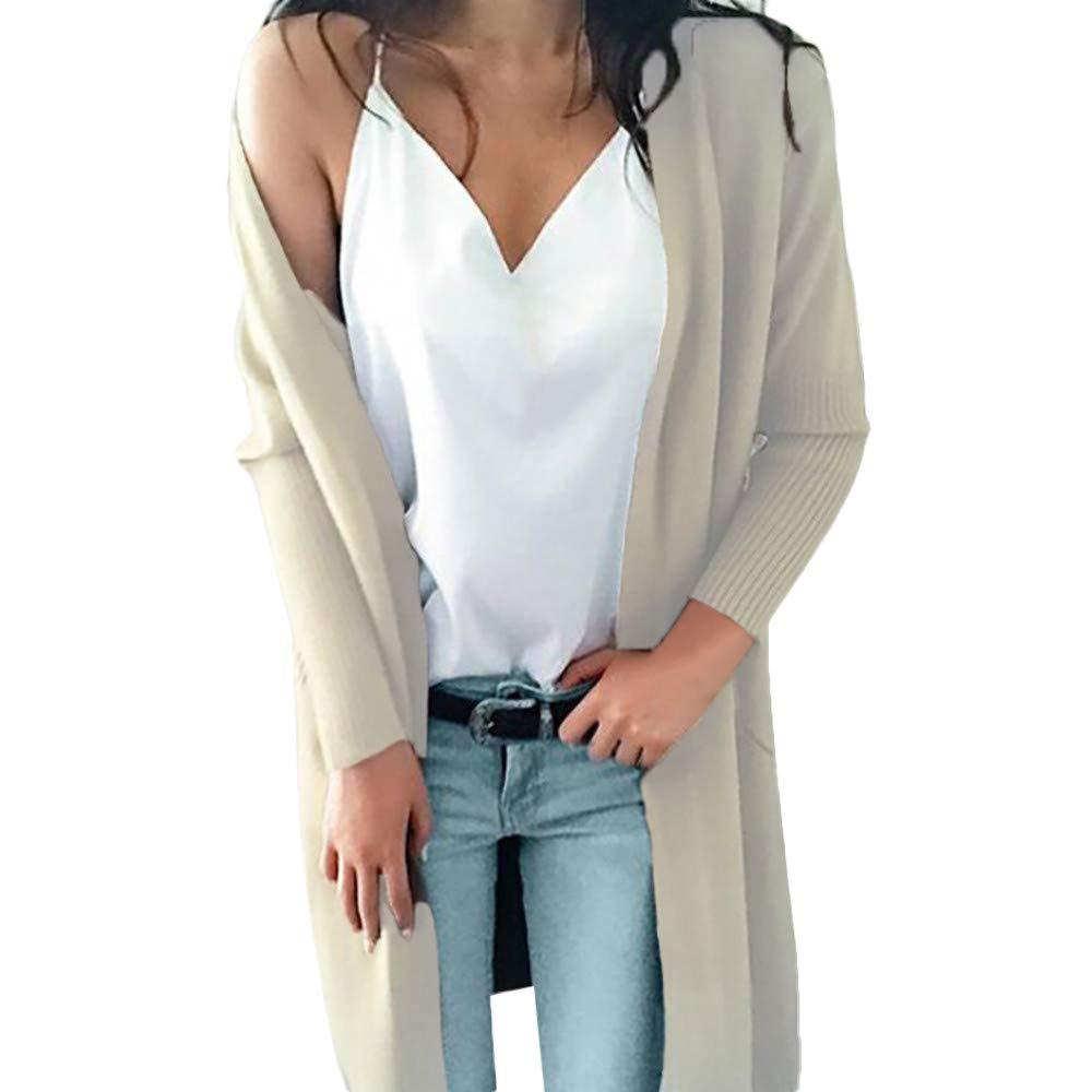 Seaintheson Women's Coats SWEATER レディース B07HKG5NJ3 Small|ベージュ ベージュ Small