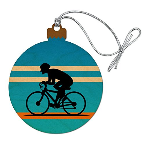 Graphics and More Road Bike Cycling Biking Bicycle Wood Christmas Tree Holiday Ornament (Bicycle Ornament Holiday)