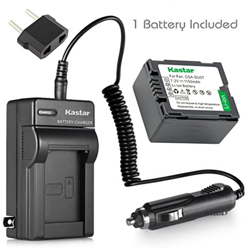 Kastar 1 Pack Battery and Charger for Panasonic CGA-DU06 CGA-DU07 CGA-DU12 CGA-DU14 CGA-DU21 Batteries (Du14 Cga Lithium Battery Ion)