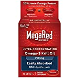 MegaRed 750mg Ultra Concentration Omega-3 Krill Oil, 40 softgels (Pack of 8)