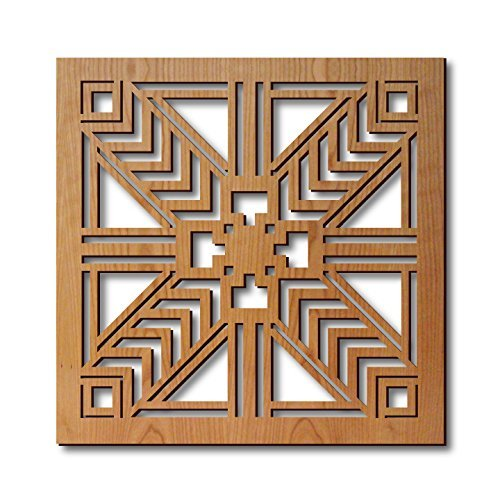 Frank Lloyd Wright Robie House Sconce Trivet by Lightwave Laser