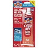 12 Pack Permatex 81160 High-Temp Red RTV Silicone Gasket Maker - 3 oz Tube (26B)