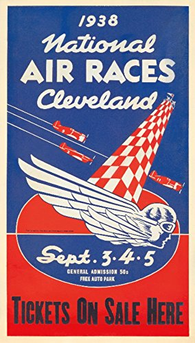 National Air Races - Cleveland (artist: Anonymous) USA c. 1938 - Vintage Advertisement (24x36 SIGNED Print Master Giclee Print w/Certificate of Authenticity - Wall Decor Travel Poster)