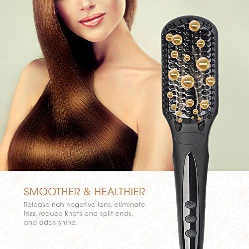 Hair Straightening Brush BearMoo Working Process