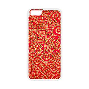iPhone 6 4.7 Inch Case,[Generic] Cell Phone Case for iPhone 6 4.7 Inch [White] Keith Haring GF8017
