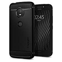 Moto E4 Case, Spigen Rugged Armor - Resilient Shock Absorption and Carbon Fiber Design for Motorola E4 (2017) - Black
