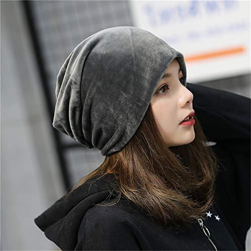 Gorros Unisex Turban Festival Mujer Color Gris Mezclados Hat De Slouch Warm Sombreros Algodón Invierno Deseshenme Para Sombrero Sombreros Cap Sólido OX74g