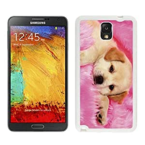 White pc Samsung Note 3 Case Cute Dog Pets Silicone Phone Back Cover