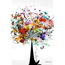 My Daily Journal: Colorful Tree Vector, Lined Journal, 6 x 9, 200 Pages