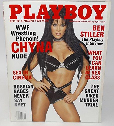 November 2000, Playboy Magazine - Vintage Men's Adult Magazine Back Issue - Chyna