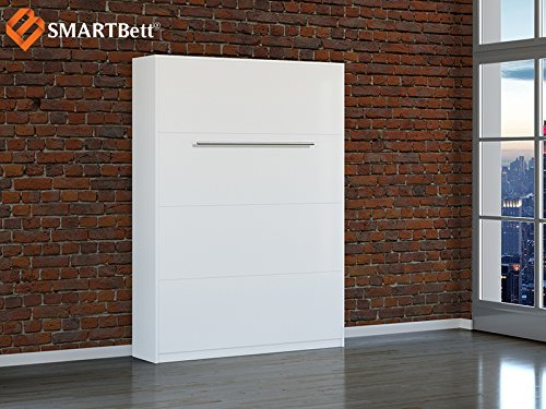 Schrankbett SMARTBett Klappbett 140cm Vertikal Weiß