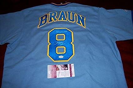 newest 98066 17041 Ryan Braun Autographed Jersey - allstar coa - JSA Certified ...