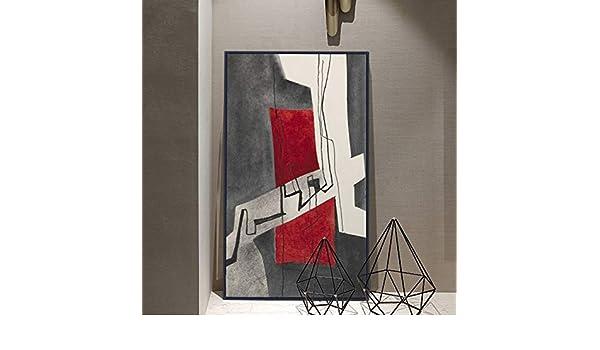 hetingyue Mural de Lienzo geométrico Abstracto Moderno sin Marco ...