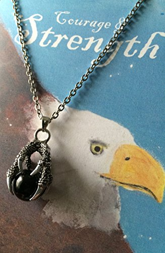Smiling Wisdom - Eagle Claw Totem Animal Spirit Gift Set - Dreams Within Your Grasp Card - Stainless S Eagle Claw Necklace, Ornament for Man w Courage & Strength - Father's Day - Son Dad Brother